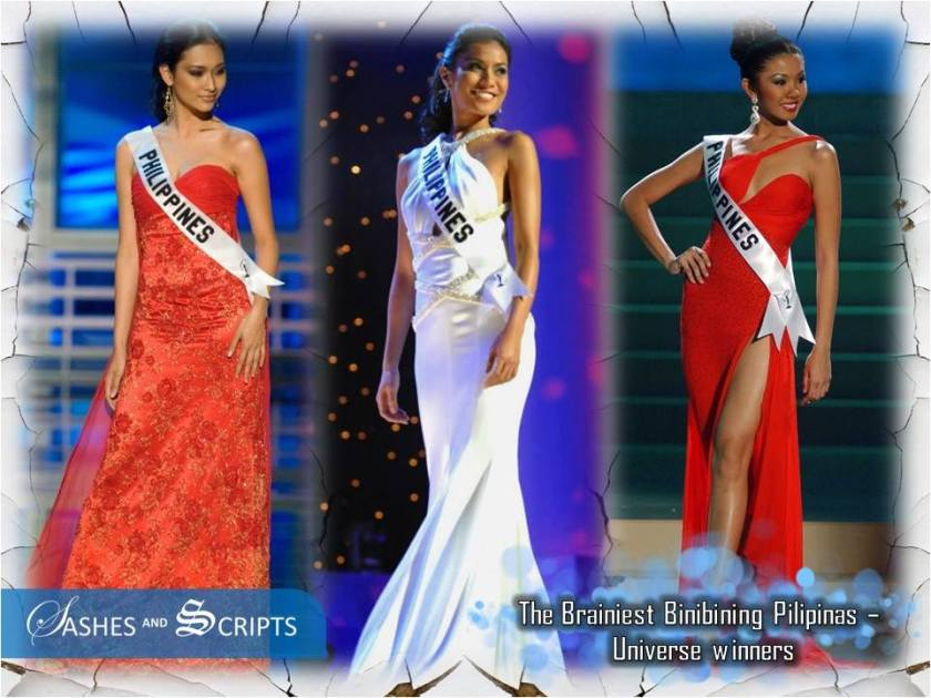 Pre-Med, summa cum laude (University of the Philippines) and later topped  the medical board exams. Theresa Licaros (Binibining Pilipinas Universe  2007)